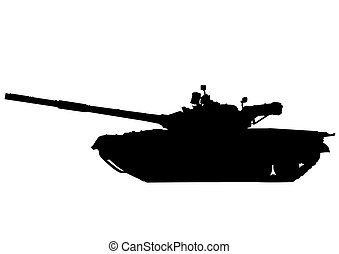 Russian tank on white - Big military tank on white...