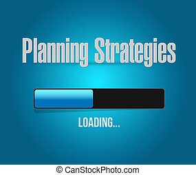 concept, chargement, barre, signe, Planification,  stratégies
