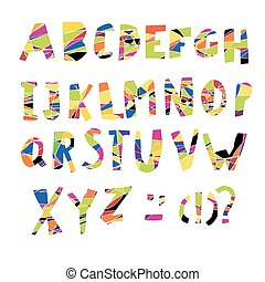 Colorful Alphabet. Capital letters.