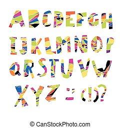 Colorful Alphabet. Capital letters.