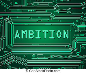 Ambition technology concept.