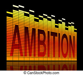 Ambition levels concept. - Illustration depicting graphic...