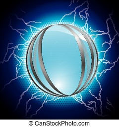 electric blue sphere