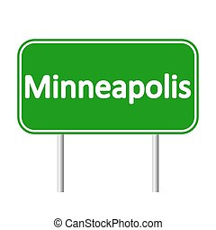 Minneapolis green road sign.