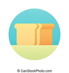 Sliced bread loaf icon