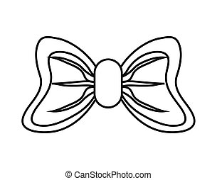 Isolated bowtie design - Bowtie icon. Decoration gift and...