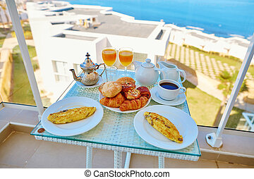 Delicious breakfast with sea view - Delicious breakfast with...