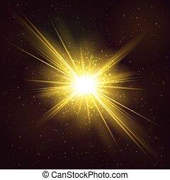 011 - Burning Bright Cosmic Explosion of Star - Realistic...
