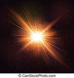 Shining Hot Cosmic Explosion of Star. - Shining Hot Cosmic...