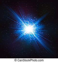 Abstract Shimmering Cosmic Flash Star. Abstract Design...
