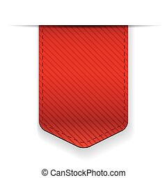 Empty red ribbon vector isolated