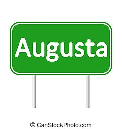 Augusta green road sign.