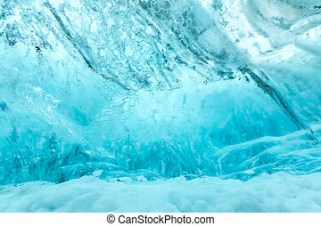 Ice wall texture - Ice wall background in Cave Iceland at...