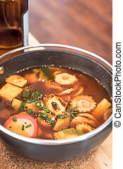 Spicy Miso Soup Udon - Spicy Japanese Cuisine Miso Soup Udon