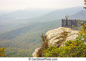 landscape view at cedar mountain overlook
