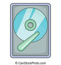 Hard drive disk icon, cartoon style - Hard drive disk icon....