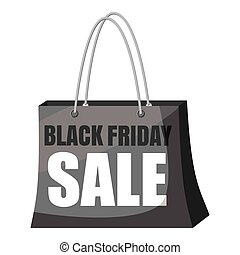 Black Friday Sale shopping bag icon