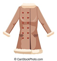 Sheepskin jacket icon, cartoon style