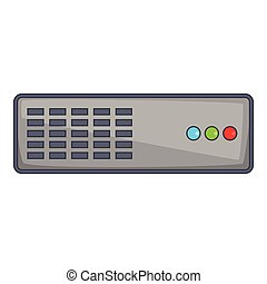 Server icon, cartoon style - Server icon. Cartoon...
