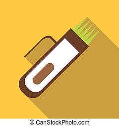 Hair clipper icon, flat style