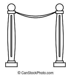 Two pillars icon, outline style - Two pillars icon. Outline...