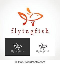 logotipo, peixe, Símbolo