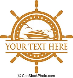 Cruise Ship Logo. - Cruise ship sign and symbol logo vector.