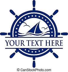 Yacht Ship. - Yacht ship sign and symbol logo vector.
