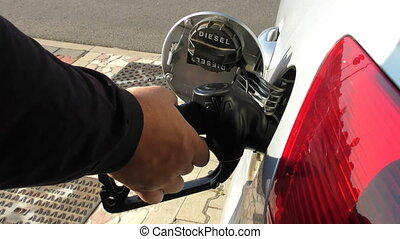 refueling - takedown of the diesel pump at the end of...