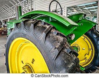 farm tractor ready for harvest season