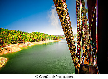 Fontana Lake in North Carolina with Low Water Levels in...