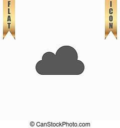 Vector cloud icon. Easy to edit.