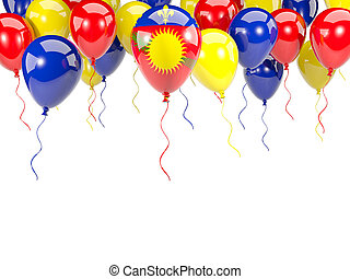 Flag of guadeloupe on balloons - Flag of guadeloupe, with...