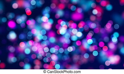 Red blue circle bokeh lights and sparkles loop