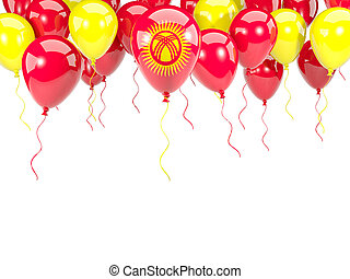 Flag of kyrgyzstan on balloons - Flag of kyrgyzstan, with...