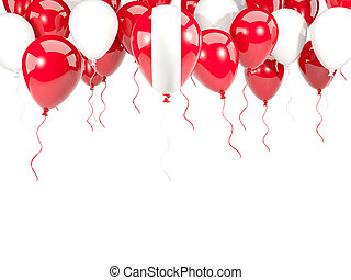 Flag of peru on balloons - Flag of peru, with balloons frame...