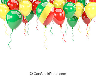 Flag of republic of the congo on balloons - Flag of republic...