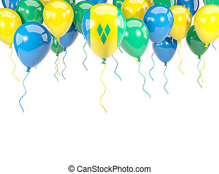 Flag of saint vincent and the grenadines on balloons - Flag...