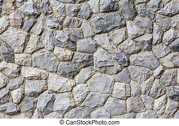 Stone wall, rock background and texture