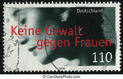 postmark - GERMANY- CIRCA 2000: stamp printed by Germany,...