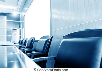 Meeting room - Luxurious meeting room with tables and...