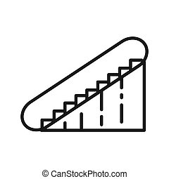 mall escalator illustration design