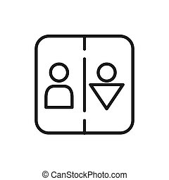 restroom sign illustration design