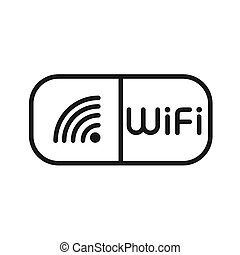 wifi hotspot illustration design