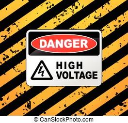 high voltage sign - Illustration of high voltage sign design...