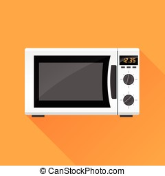 microwave oven icon - Illustration of microwave oven icon...