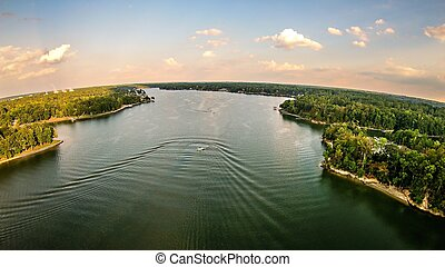 aerial over lake wylie south carolina
