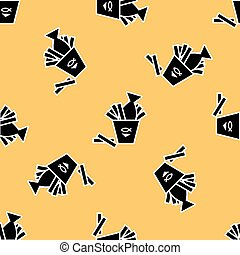 Fish and chips pattern. Fast food background for menu...
