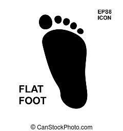 Flat foot icon - Flat foot simple icon isolated. Pillow...