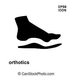 Orthopedic insoles isolated on white background - Orthopedic...
